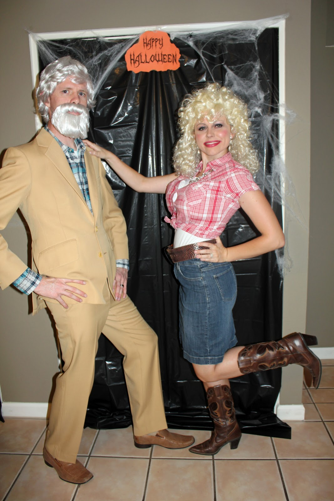 Kenny Rogers and Dolly Parton Halloween Costume
