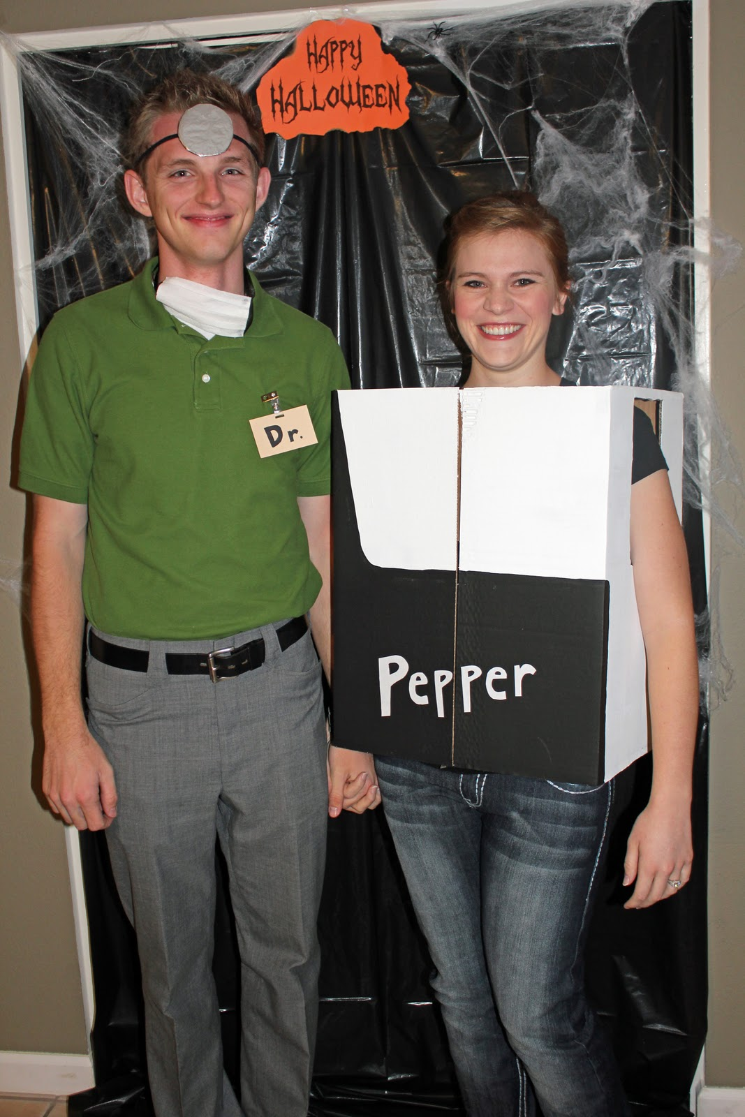 Puny Halloween Costume: Dr. Pepper couple costume