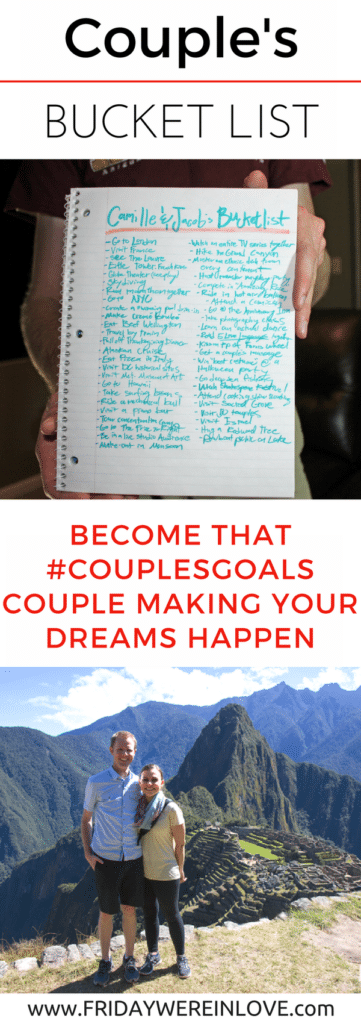 Creating a Couple's Bucket List: Become that couples goals couple by planning your dreams and ways to make them happen | couple goals | couple goals bucket lists |couple goals relationships | couples goals