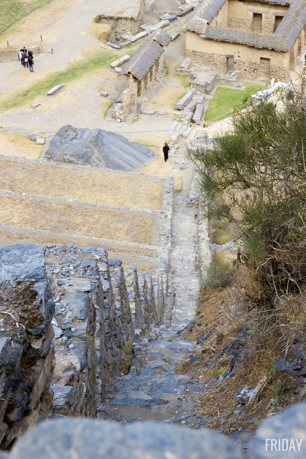 View in Ollantaytambo Peru
