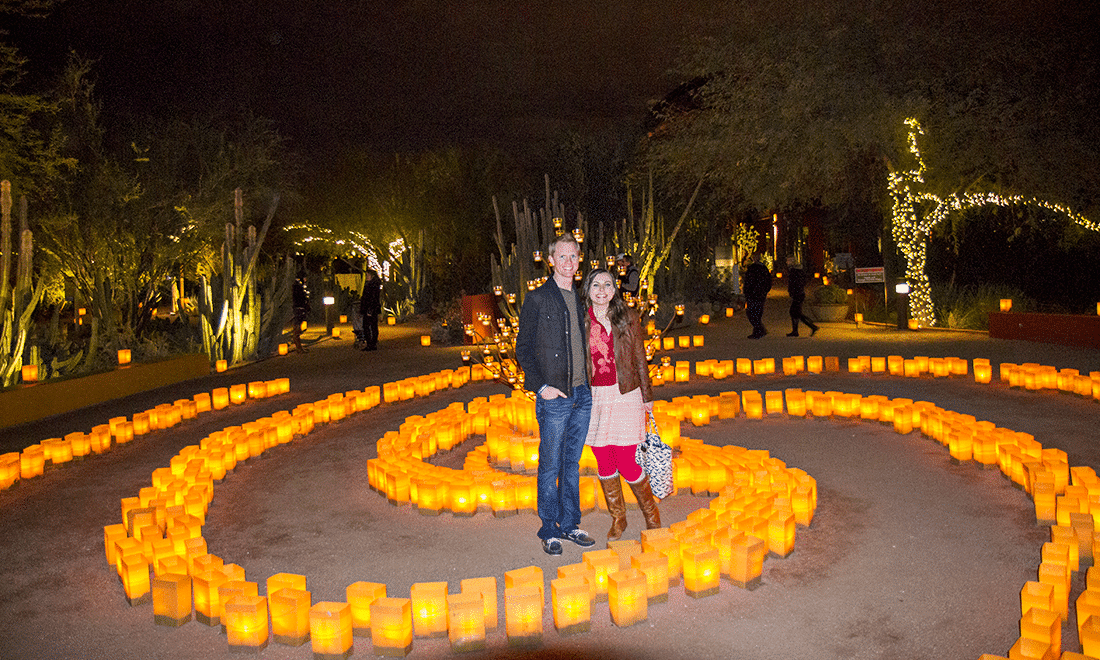 Las Noches De Las Luminarias At The Desert Botanical Garden Friday We 39 Re In Love