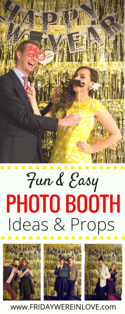 Decorating a Glamourous New Year's Eve Party on a Budget: Fun and easy photo booth ideas and props