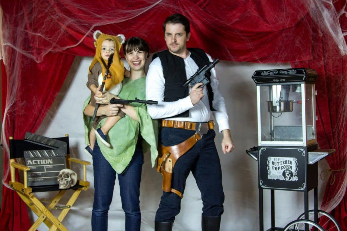 Han Solo Princess Leia and Ewok Family Costume