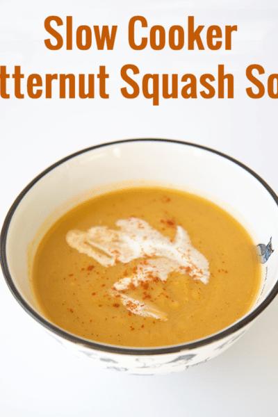 Slow cooker butternut squash soup