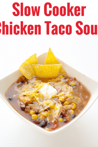 One Meal Now One Meal Later: Crock Pot Chicken Taco Soup