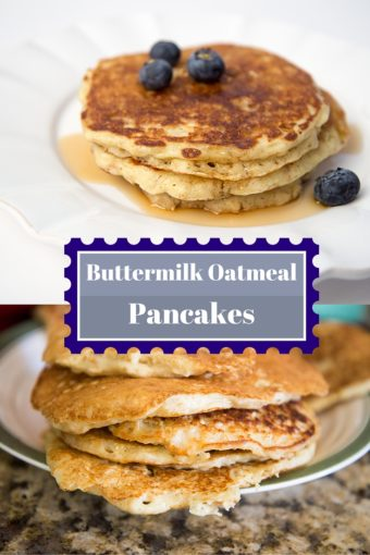 Buttermilk Oatmeal Pancake Recipe