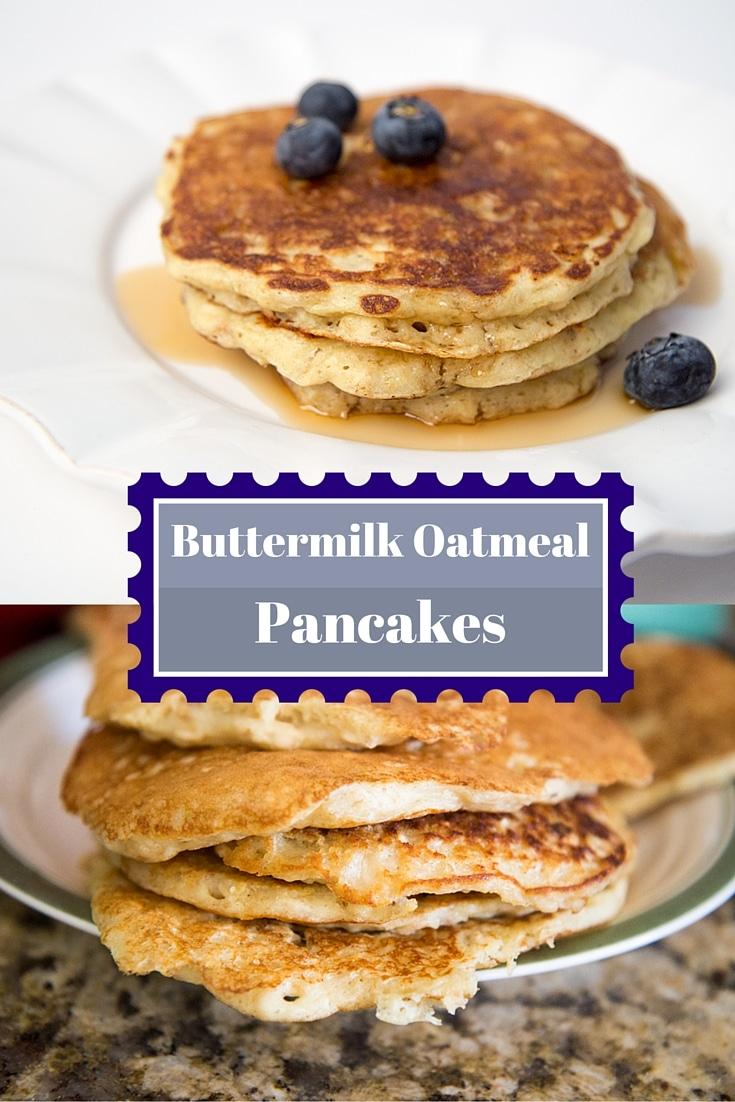 Old Fashioned Buttermilk Oatmeal Pancake Recipe