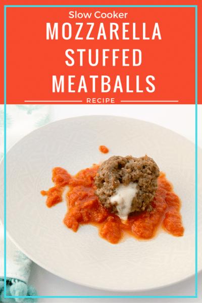 Slow Cooker Cheese Stuffed Meatballs