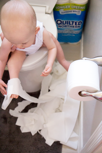 Infant Potty Training Distractions