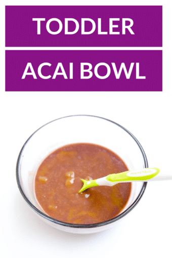 Easy Toddler Acai Bowl Recipe