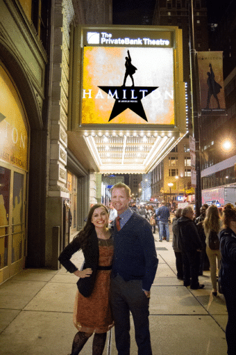 When Your Husband Gets the Greatest Tickets in the World: Hamilton Chicago