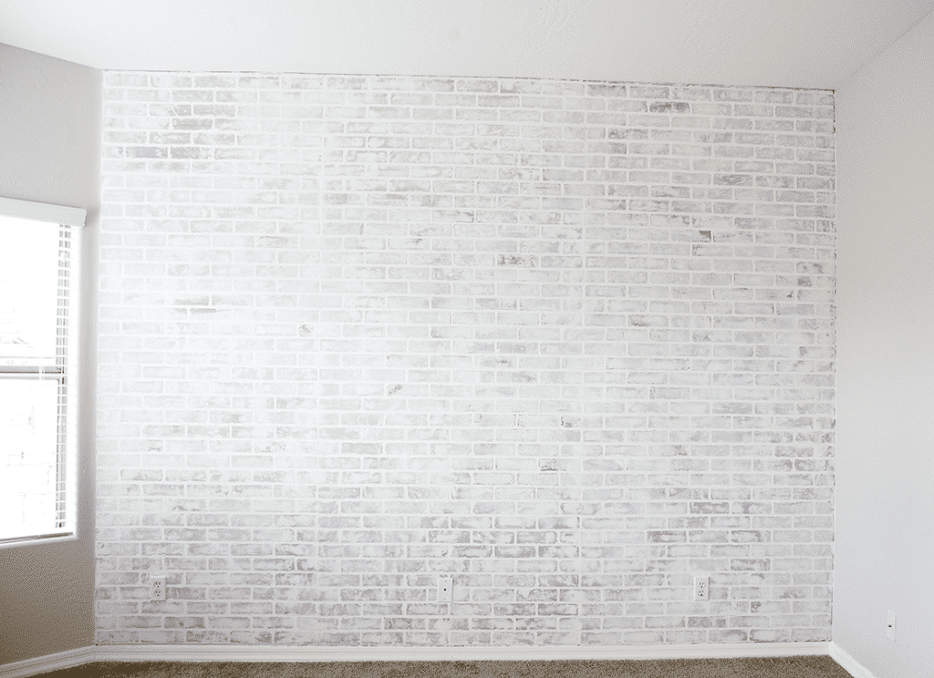 Diy White Faux Brick Wall