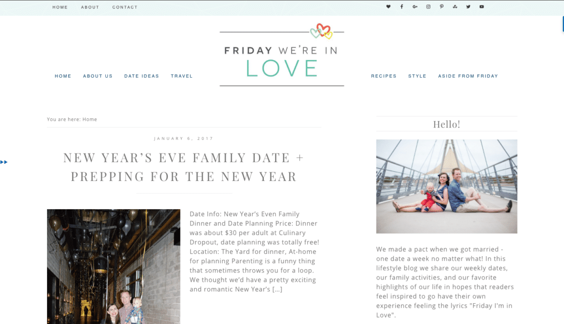 A New Site for A New Year! - Friday We\'re in Love