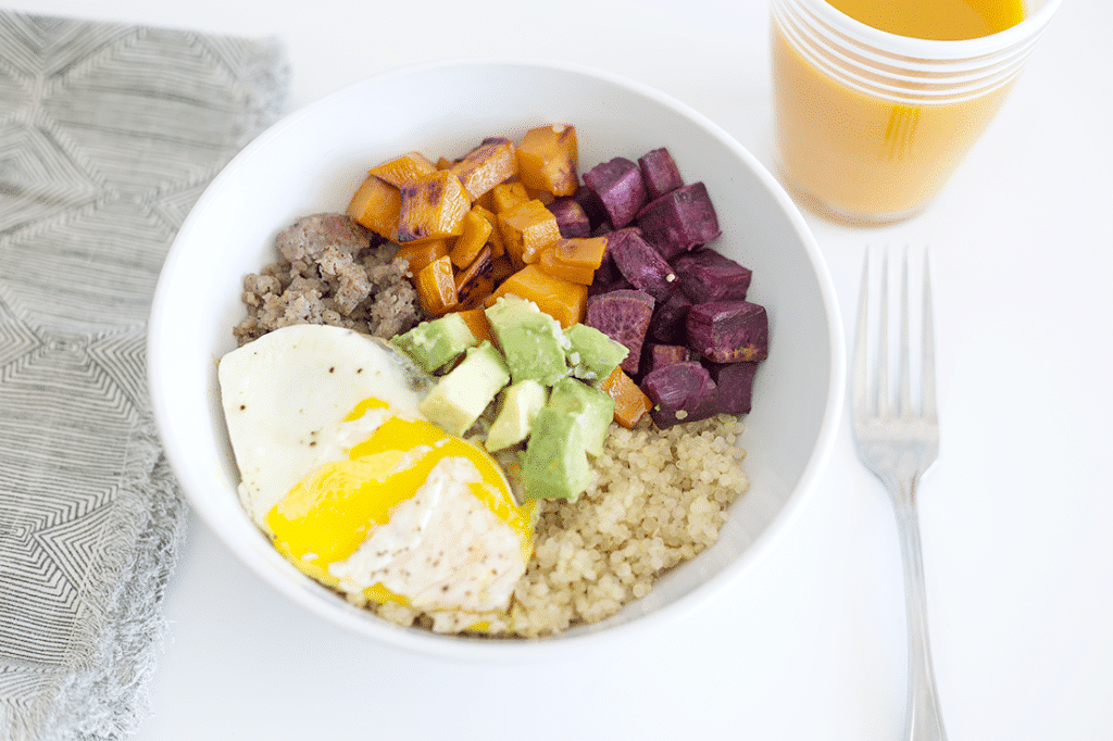 sweet and savory breakfast bowls