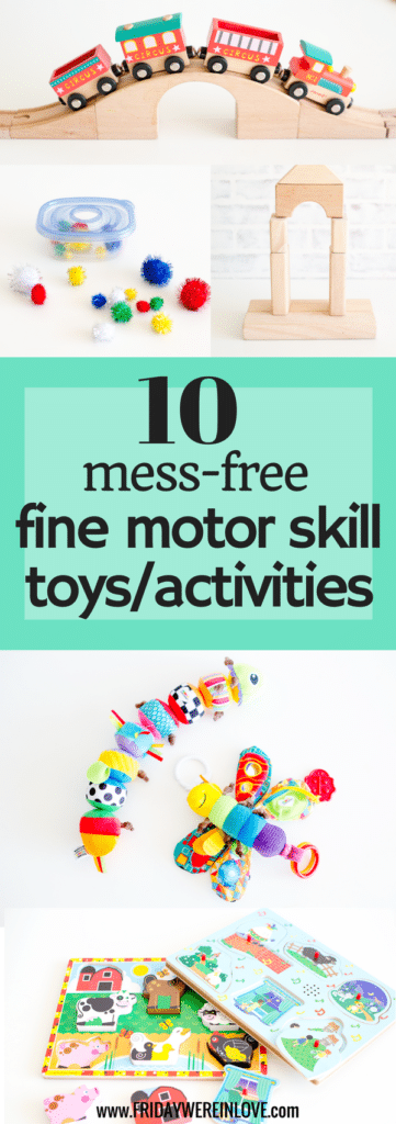 10 Mess-Free fine-motor skill building toys and activities for toddlers