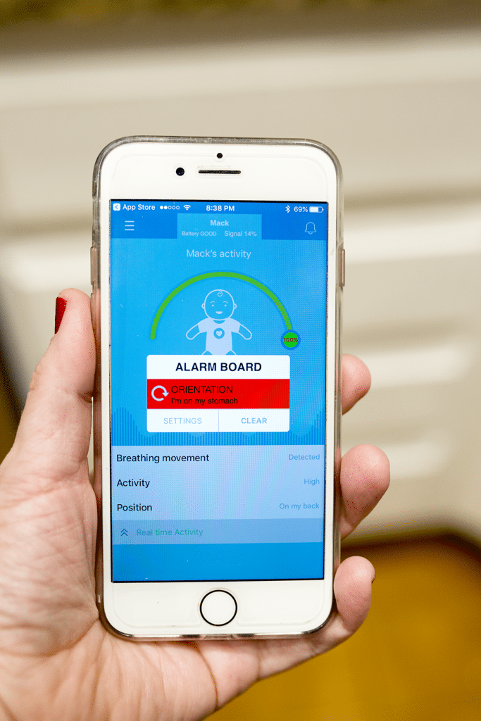 Baby Monitor Review- the MonBaby Monitor that connects to your phone, alerts at any sign of danger, and is a baby monitor that connects to an iphone or android!
