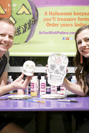 Pottery Painting Date Night: Sugar Skull Halloween Edition