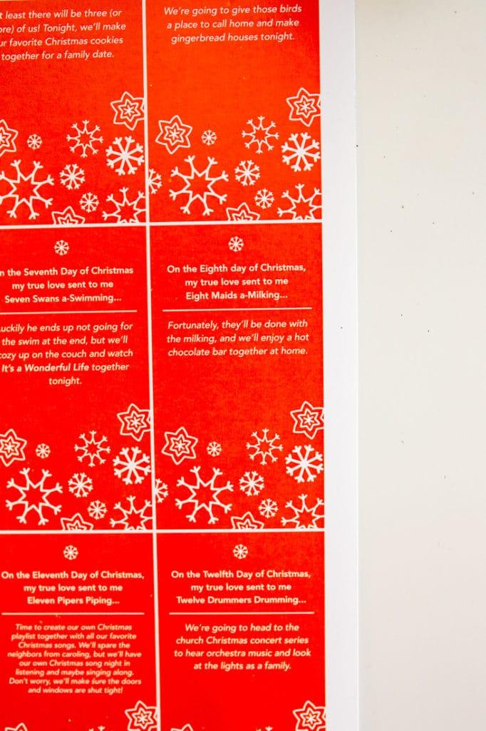 Christmas date idea: 12 Dates of Christmas Printable