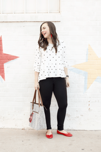 The Polka Dot Peplum Effortless Date Night Look