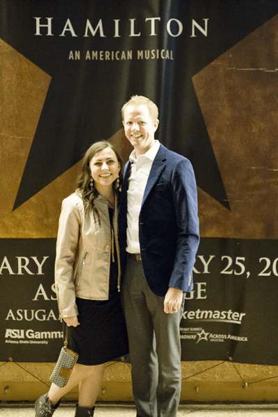 Hamilton musical date night with review and how to get tickets