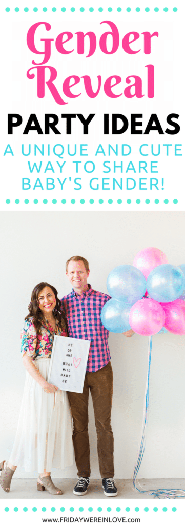 Outdoor Gender Reveal Party: Such a cute easy way to announce the baby's gender! Unique gender reveal ideas you'll love!