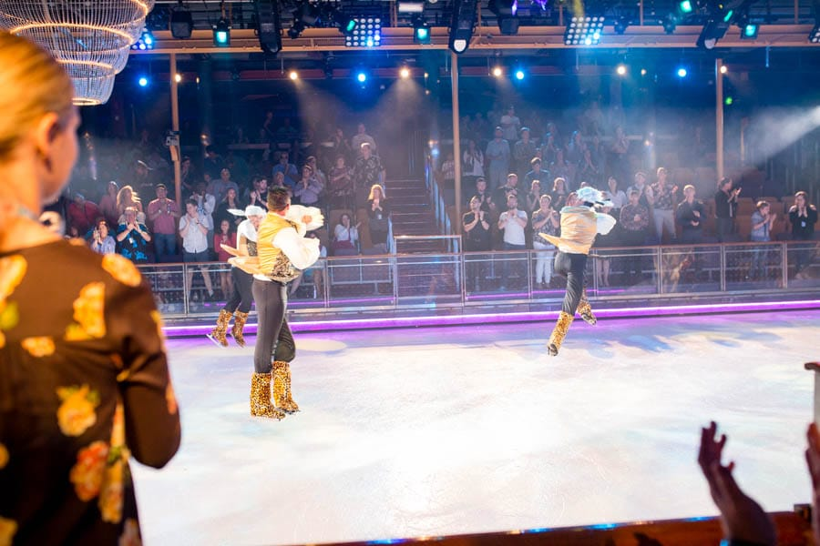 Attending a professional ice dancing performance