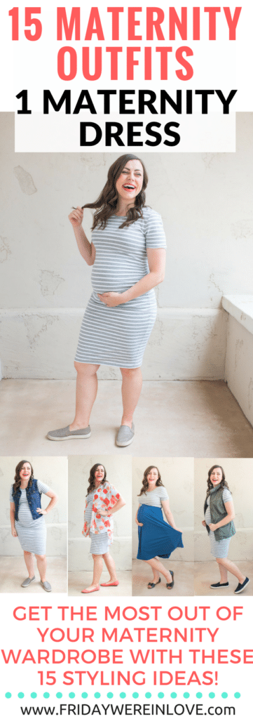 15 maternity outfits using one maternity dress: How to style the bump and make the most of your maternity wardrobe