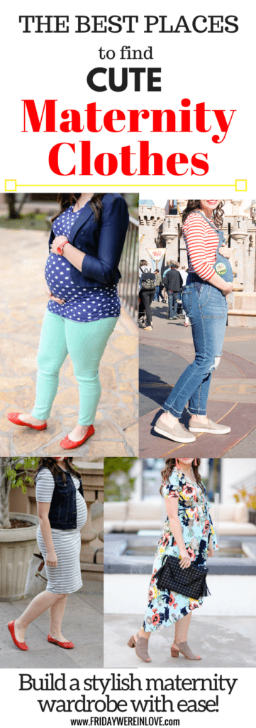 Here's a list of all the best places to buy cute maternity clothes for pregnancy (online and in-store) along with the best maternity jeans. Congratulations on your pregnancy! Whether you're a few weeks or a few months along, it's worth it to start thinking about your maternity wardrobe.