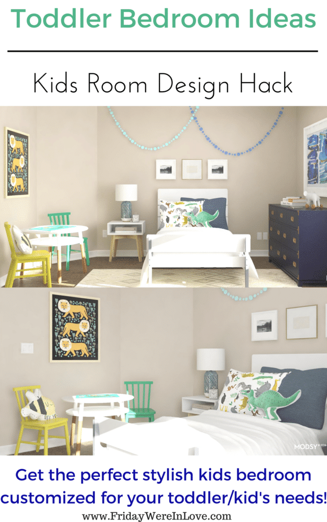 Toddler Bedroom Ideas: Kids room design perfect for your toddler boys bedroom with plenty of room to grow into!