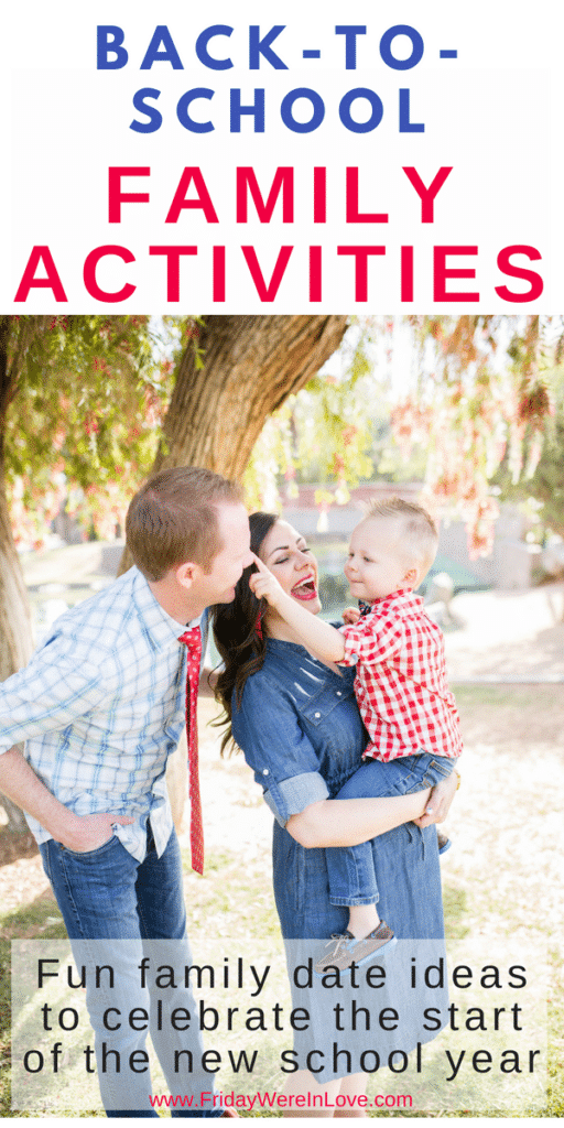 Back to school family activities