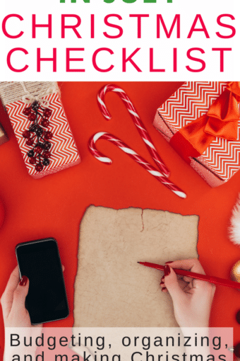 Christmas in July: Christmas Prep Checklist for a Stress-Free Christmas