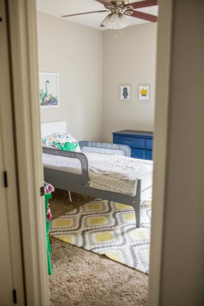 Our toddler boy bedroom reveal with lots of boys bedroom ideas and sources to find the best pieces for a cool boy's bedroom you'll both love!