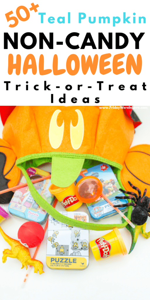 Teal Pumpkin non-candy trick or treat ideas for allergy friendly Halloween treats