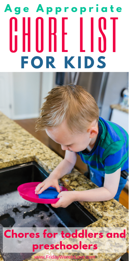 chore list for kids: chores for toddlers and preschoolers