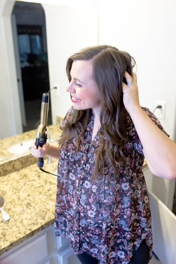 5 minute curls for long hair