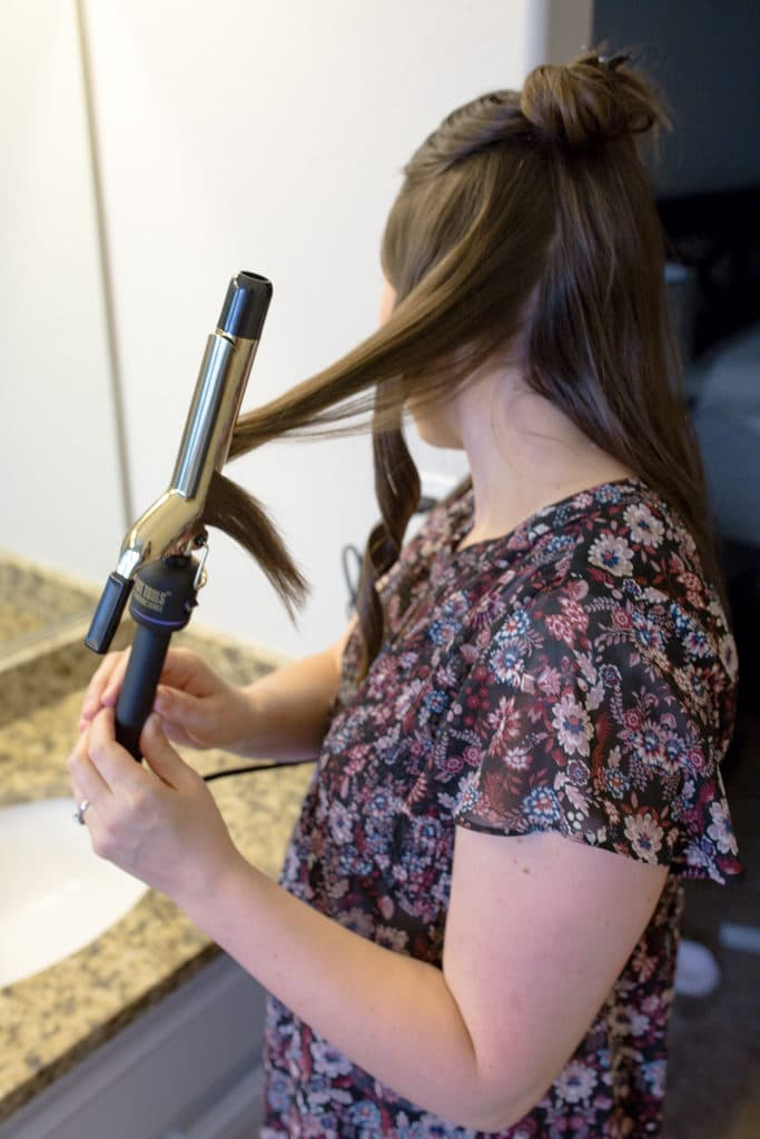 how to curl long hair in 5 minutes or less!