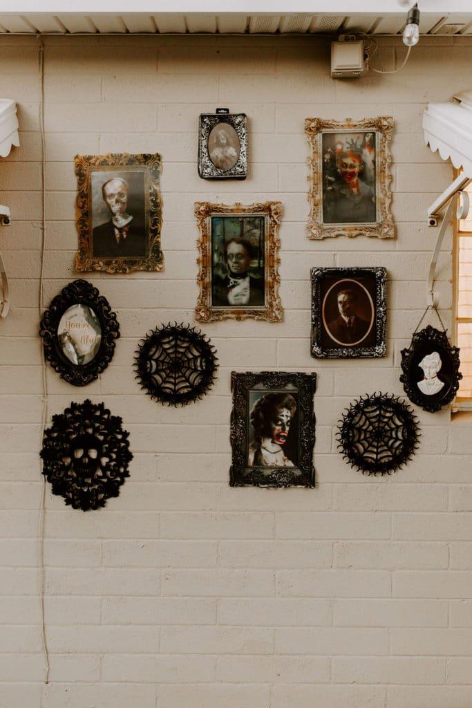 Halloween photo wall