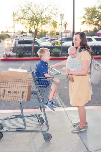 Surviving Shopping Trips with a Baby and a Toddler