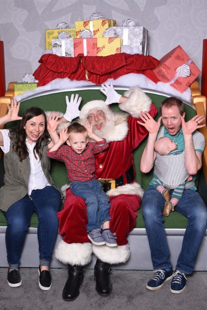 Family pictures with Santa