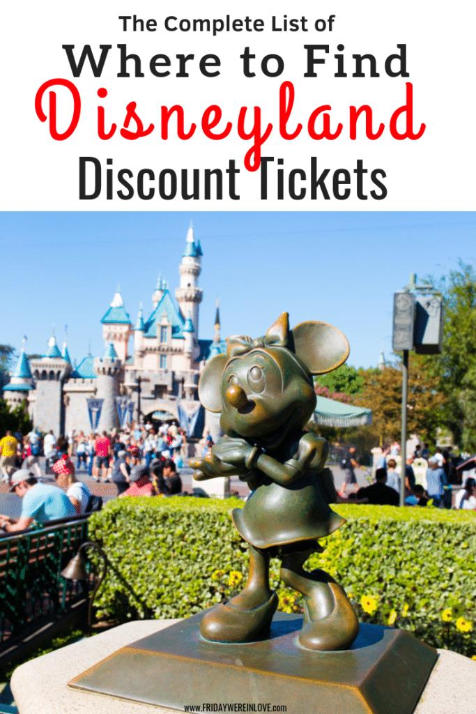 Disneyland discount tickets: the best places to find Disneyland ticket deals