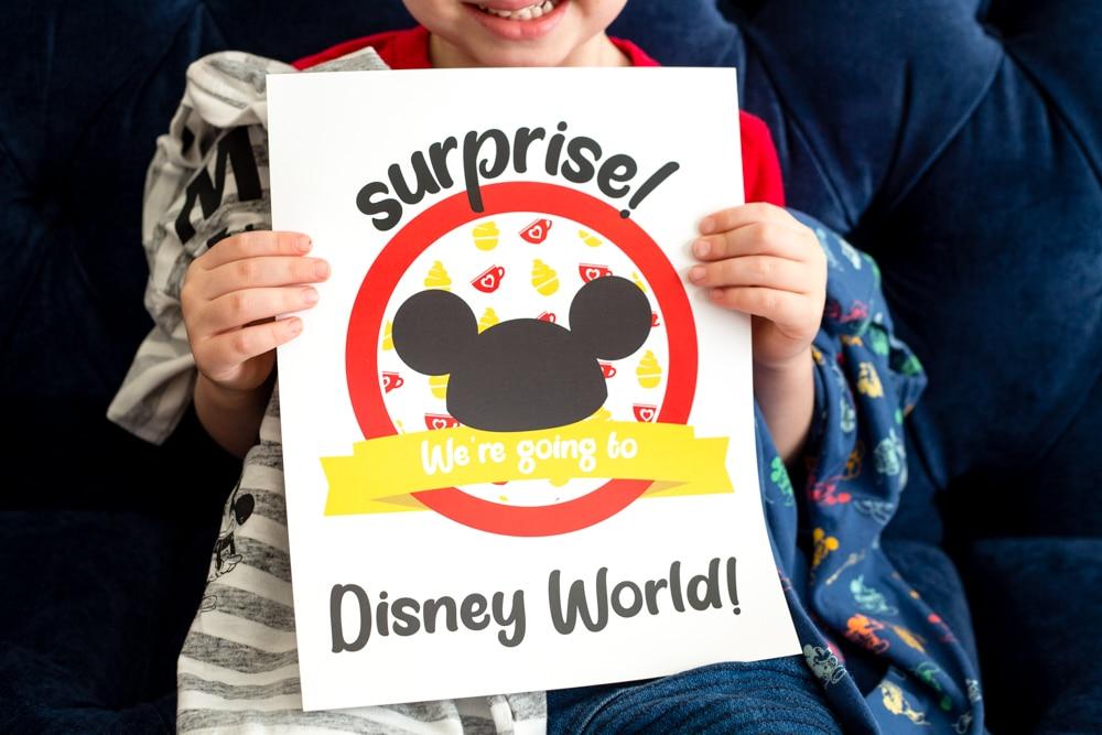 WE're going to Disney Printable