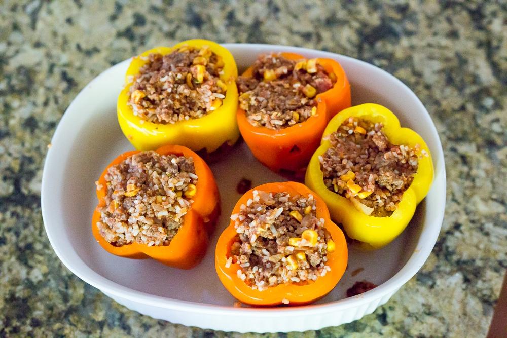 Stuffed Peppers Halloween Dinner