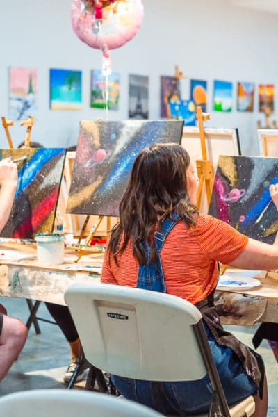 couple's painting class