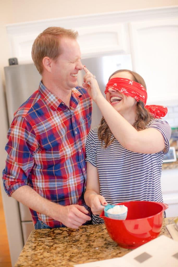 Baking Blindfolded Date Night