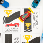 Race Car Valentine's Day Cards