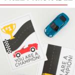 Racecar Valentine's Day Cards