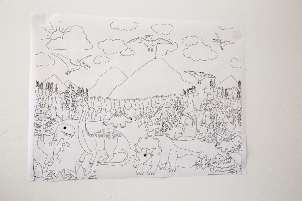 How and Where to Print Giant Coloring Pages