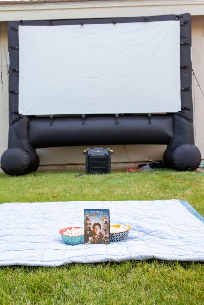 Outdoor Movie Theater Setup