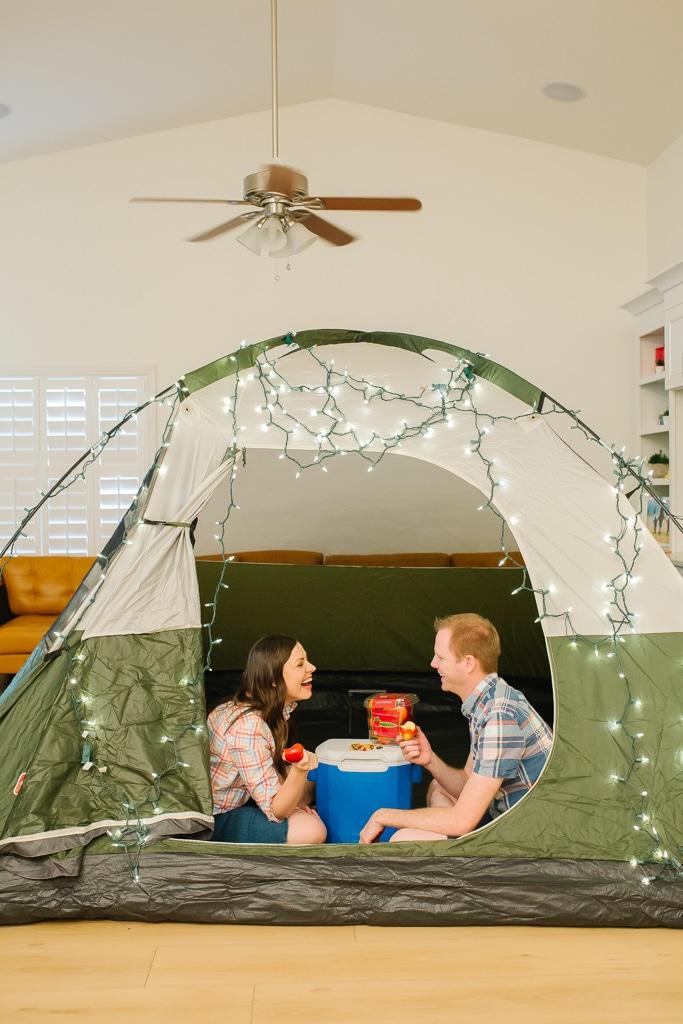Indoor Camping Date Night