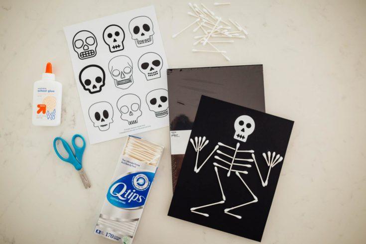 Q Tip Skeleton Craft